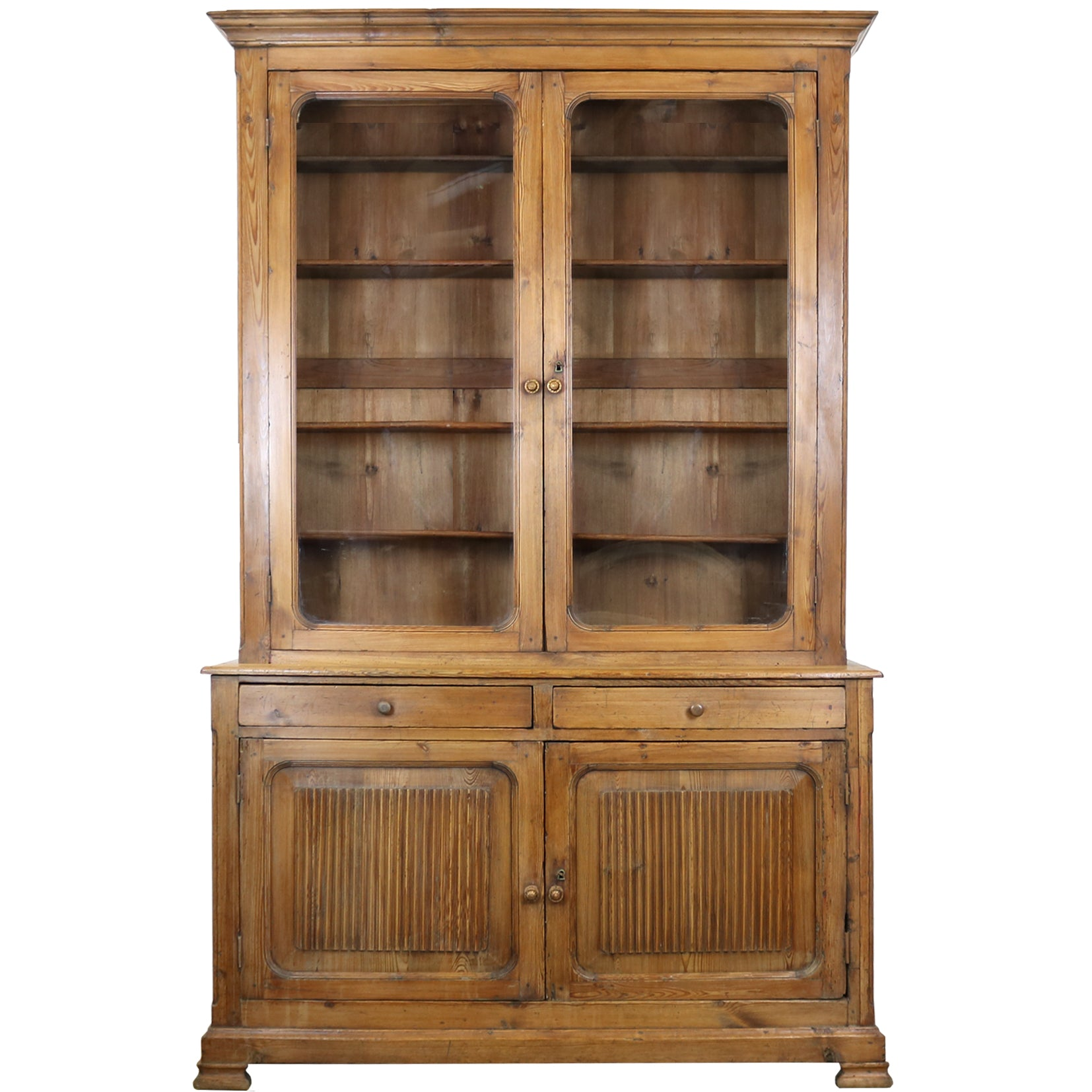 19th Century Pitch Pine Continental Dresser - The Architectural Forum
