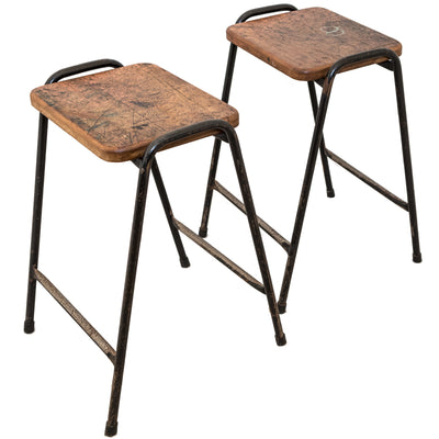 Vintage Teak Top Tubular Stacking Stools (>100 available)