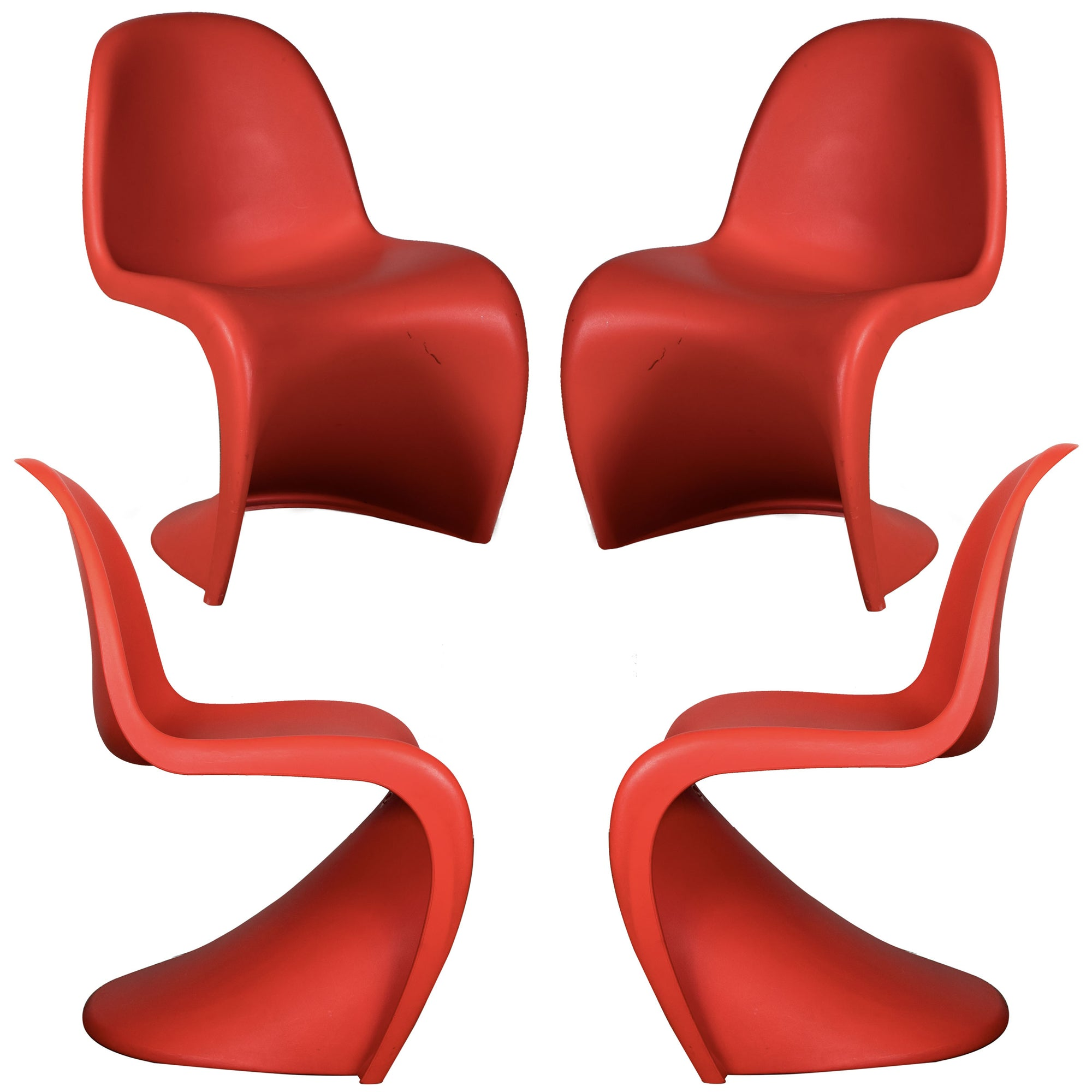 Original Verner Panton S Chair (set of 4)