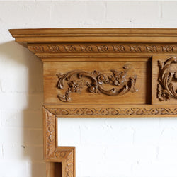 hand carved pine surround