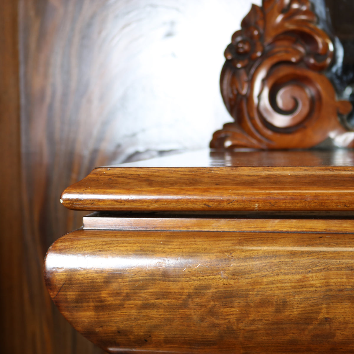 Antique Ornate Carved Mahogany Sideboard with Mirror and Secret Drawers | The Architectural Forum