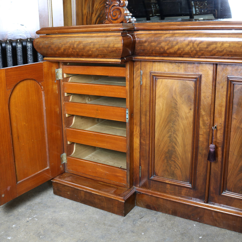 Antique Mahogany Sideboard and Mirror