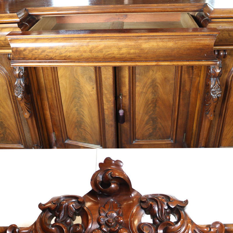 Antique Mahogany Sideboard and Mirror - architectural-forum