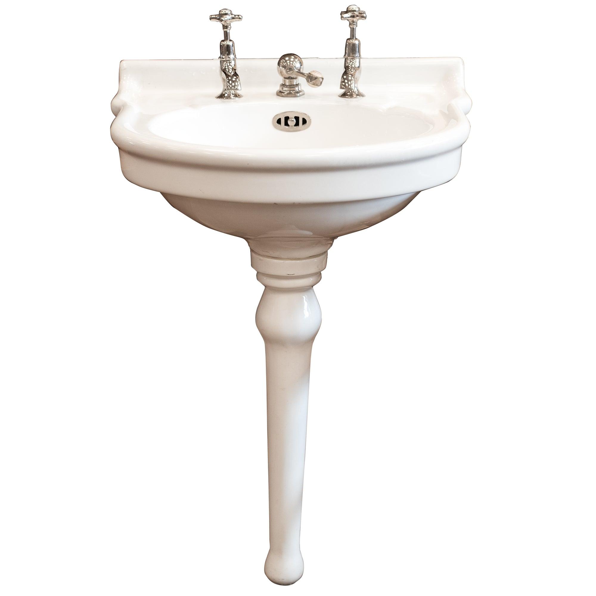 Reclaimed French Single Pedestal Sink Basin