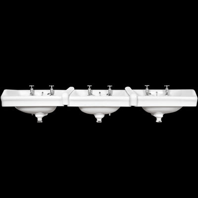 Antique George V Triple Adjoining Sinks - The Architectural Forum