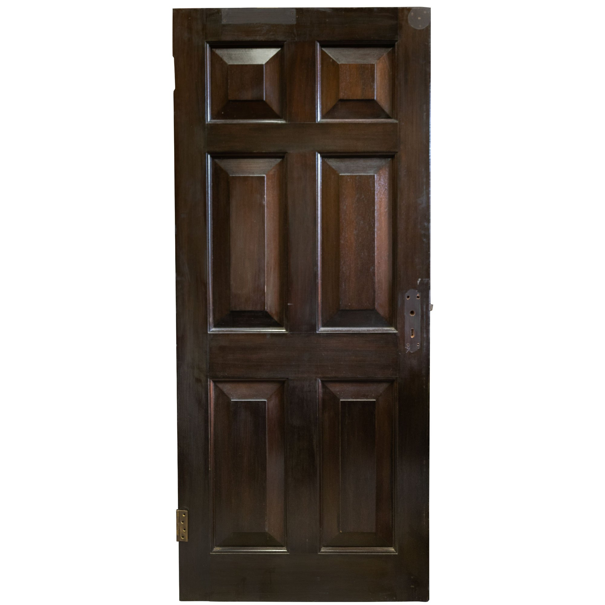 Reclaimed Solid Mahogany Six Panel Door 196 X 83.5cm (15 available)