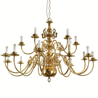 Polished Brass Chandelier - architectural-forum