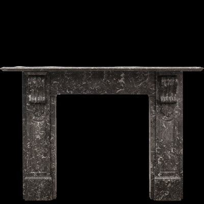 Antique Victorian St Anne's Marble Corbel Fireplace Surround (pair available) - architectural-forum