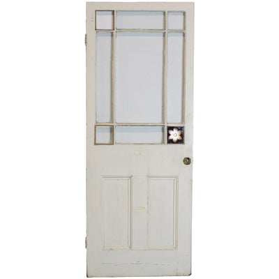 Reclaimed Antique Victorian glazed Door 194.5cm x 75.5cm