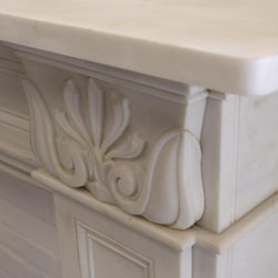 carved marble fire place