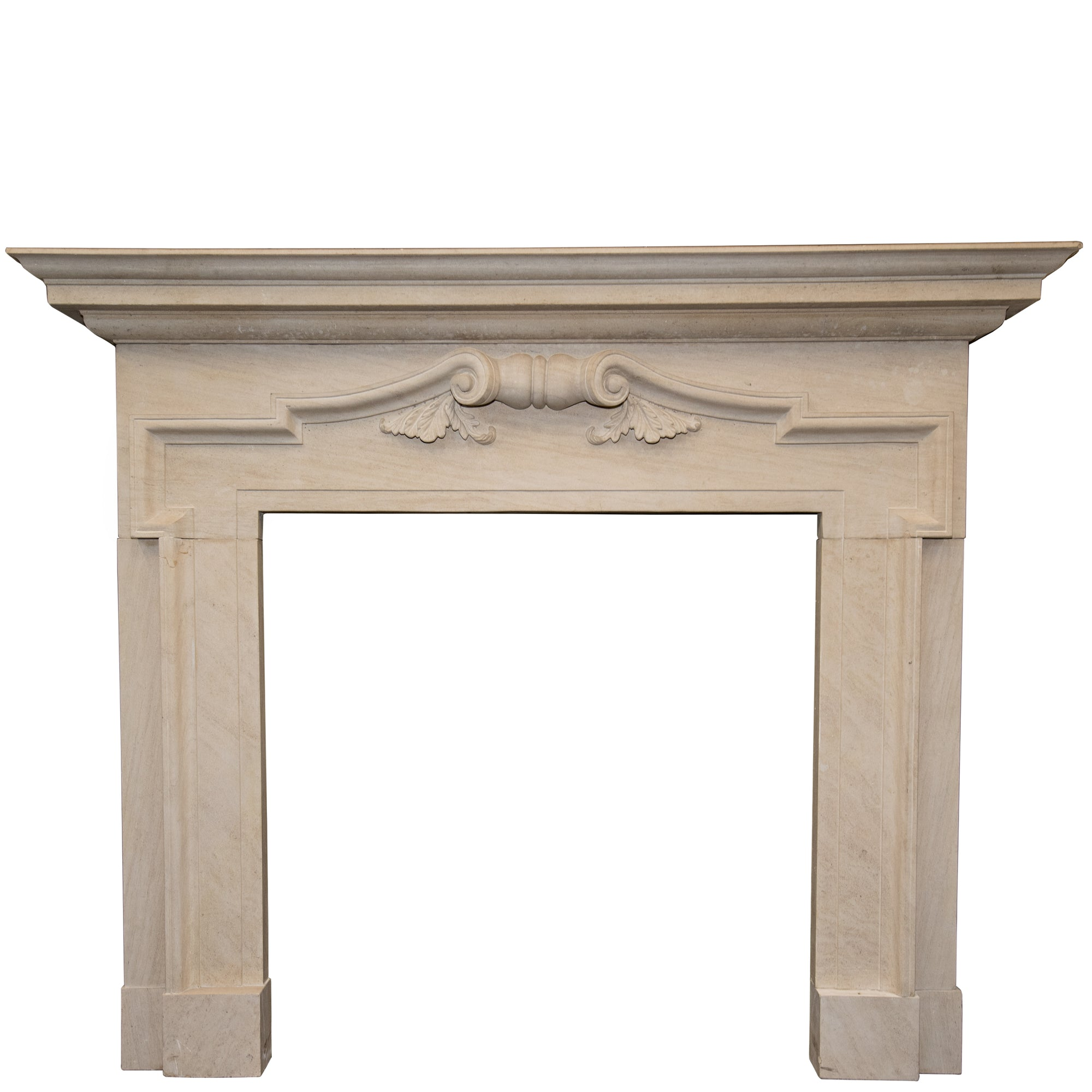 Reclaimed Baroque Style Limestone Fireplace Surround - architectural-forum