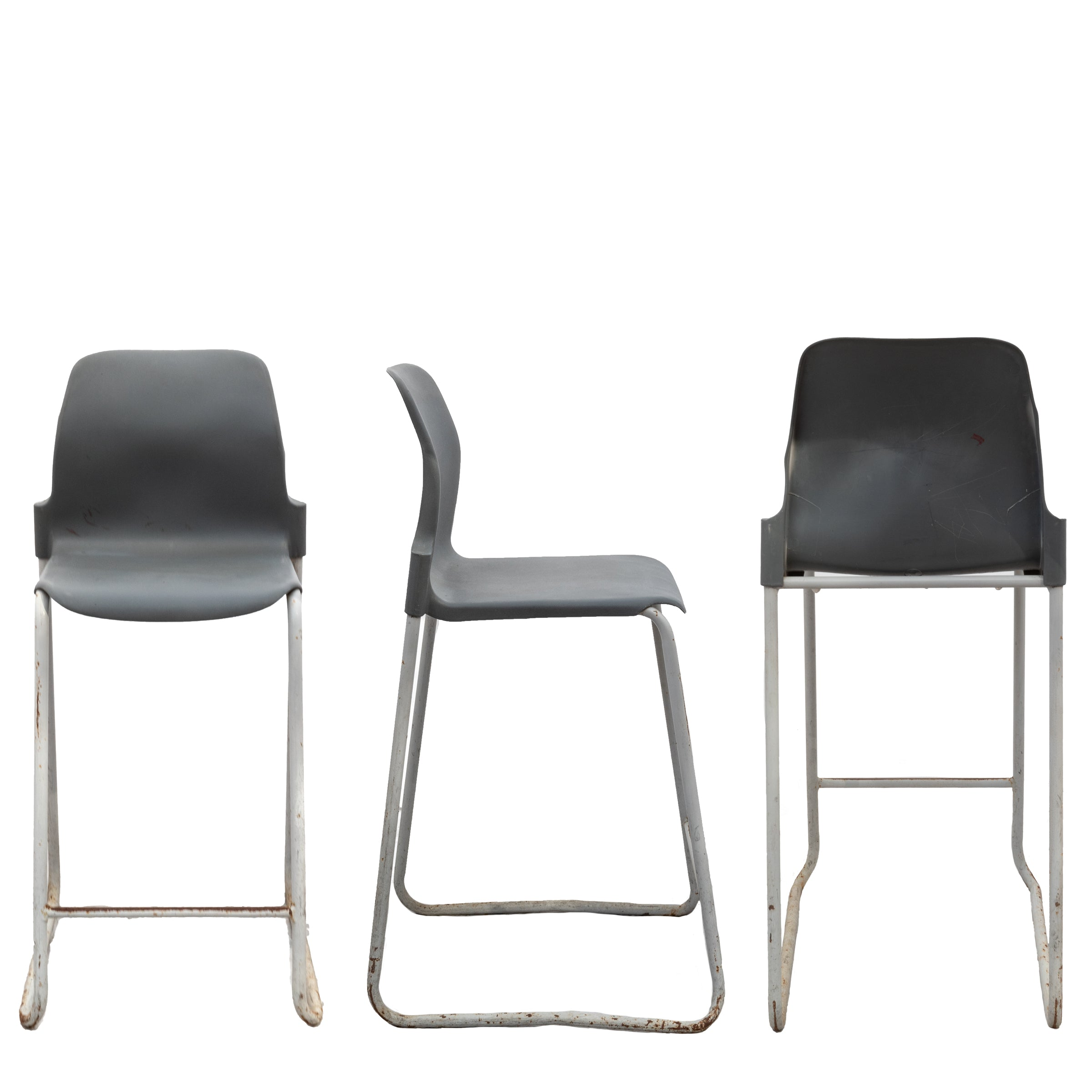 Set of 55 Mid-Century Style Stackable Stools