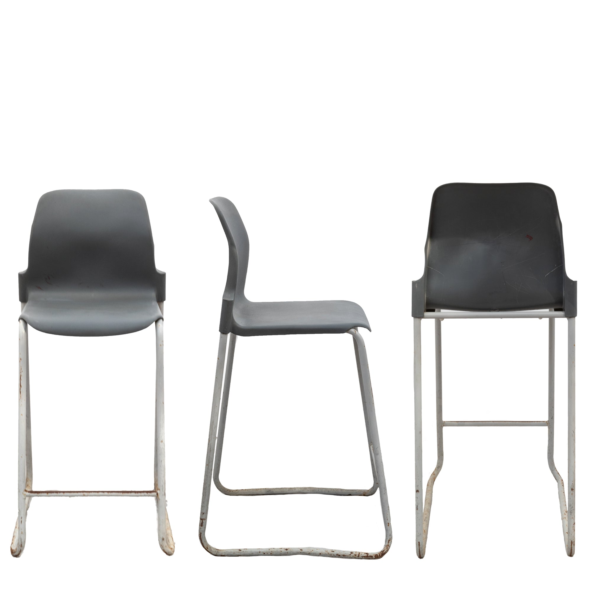 Set of 55 Mid-Century Style Stackable Stools | The Architectural Forum