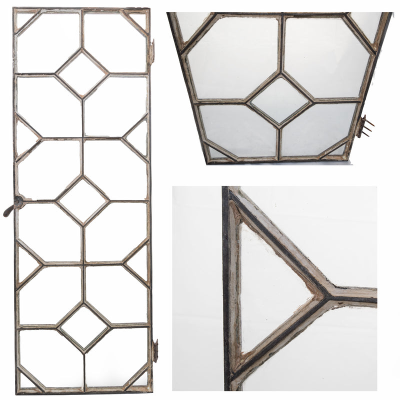 Reclaimed Late 19th Century Crittall Style Honeycomb Window Panels