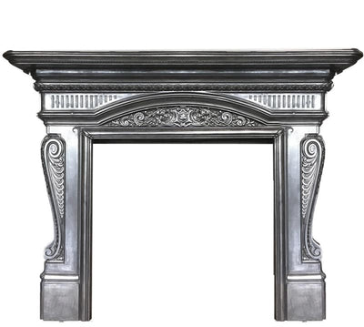 Antique Victorian Polished Cast Iron Fireplace Surround - The Architectural Forum