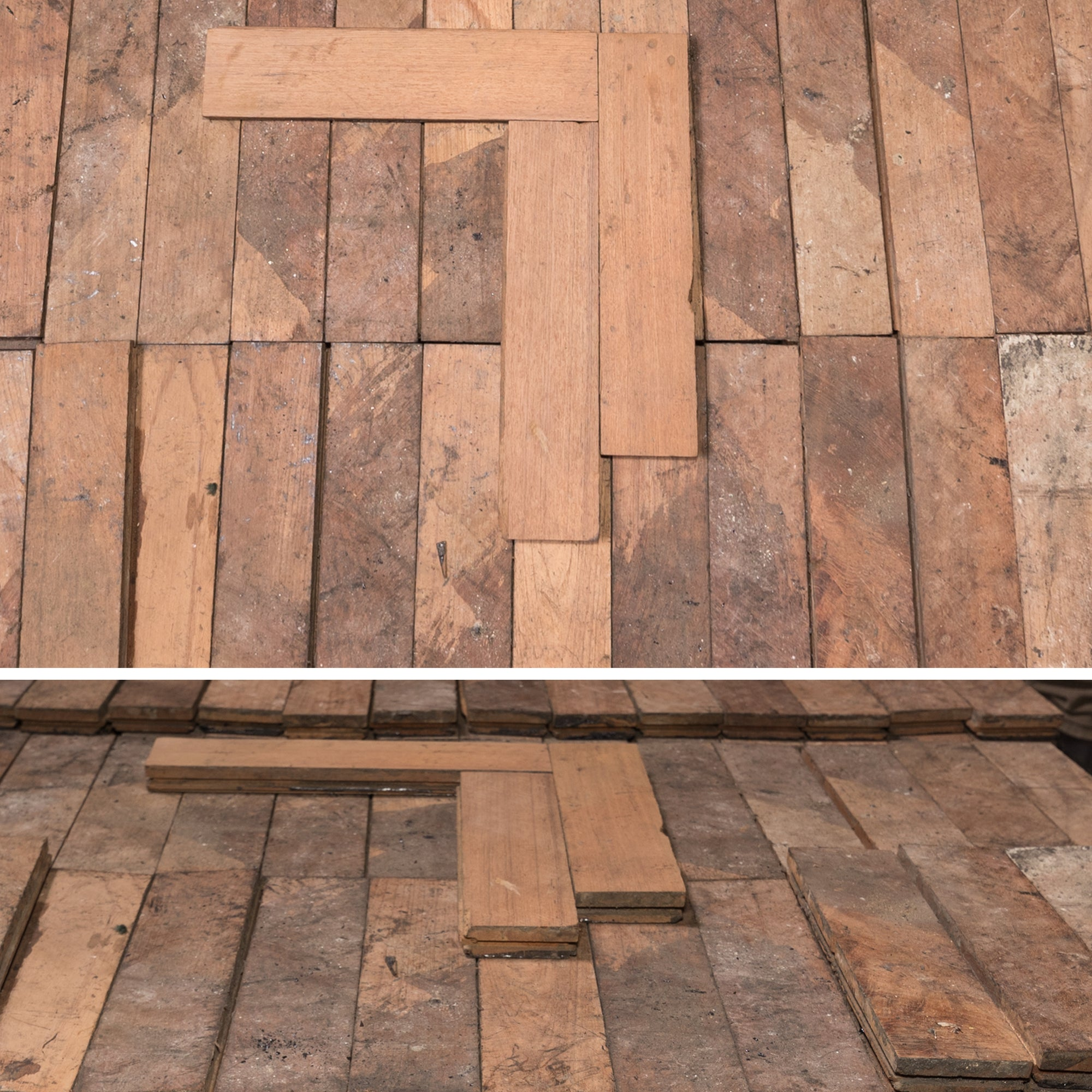 Antique Reclaimed Teak Parquet Flooring 5m² | The Architectural Forum