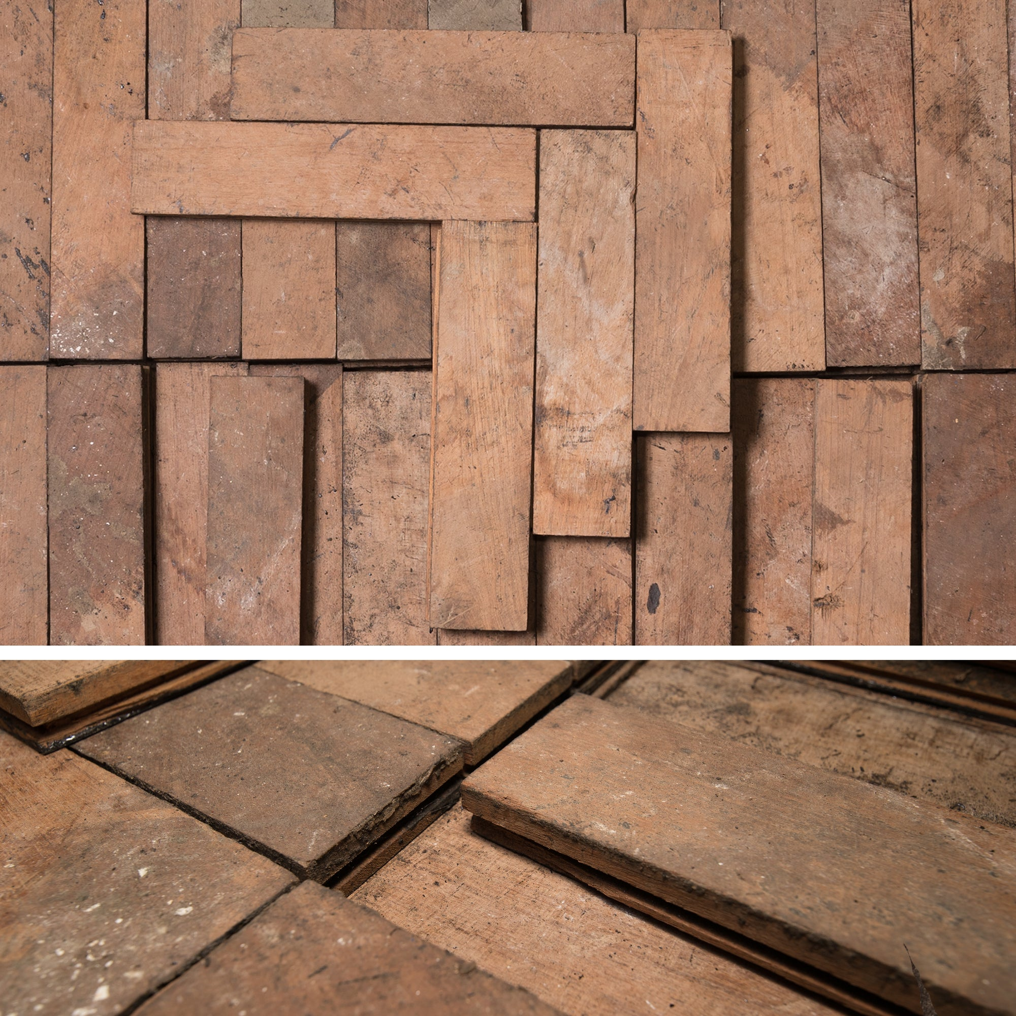Reclaimed Teak Parquet Flooring 28m² | The Architectural Forum