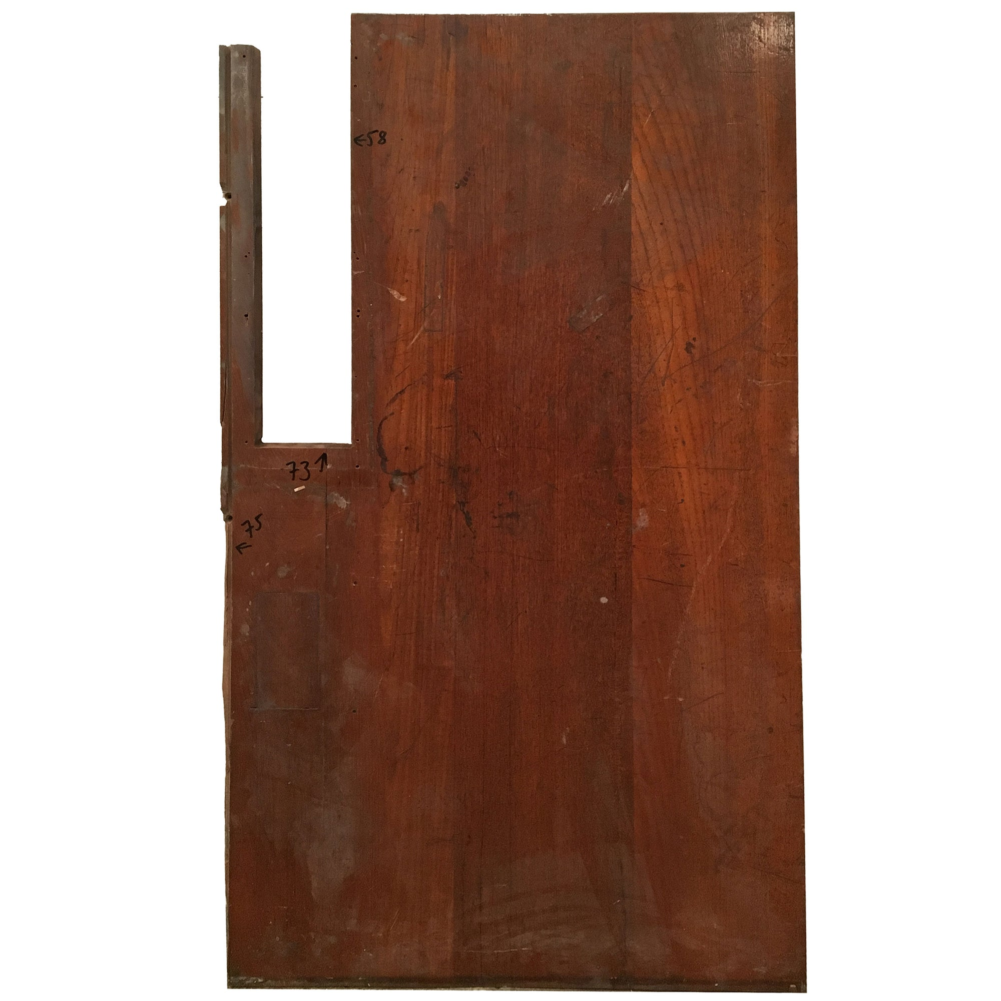 Reclaimed Teak/Iroko Worktop 134 X 75cm - architectural-forum