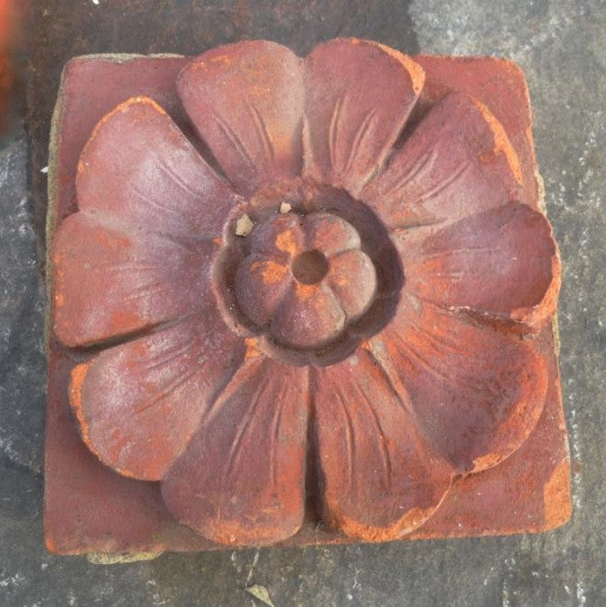 Antique floral brick