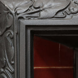 floral motor decorative cast iron fire insert