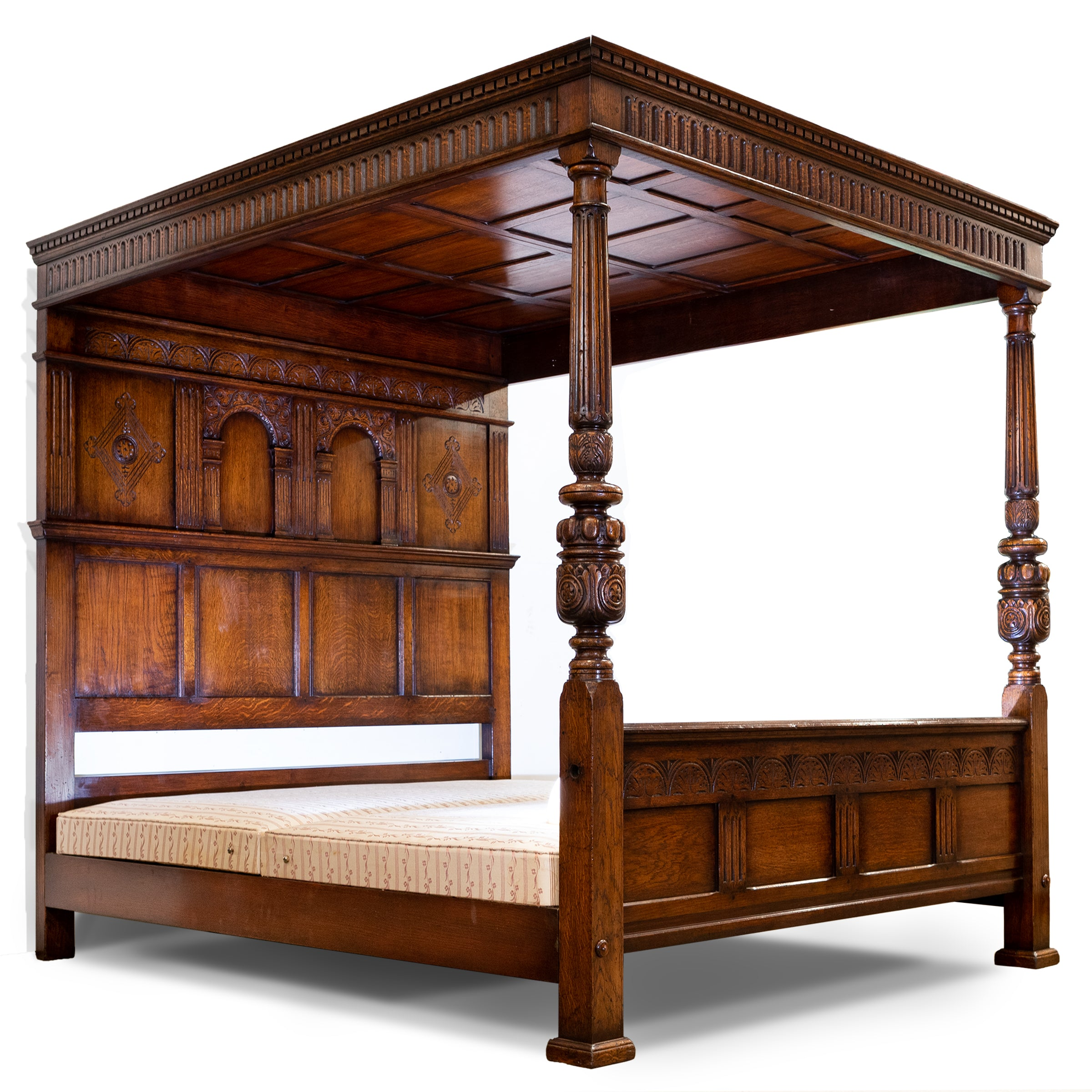 Reclaimed Titchmarsh & Goodwin Oak Four Posted Bed , Superking