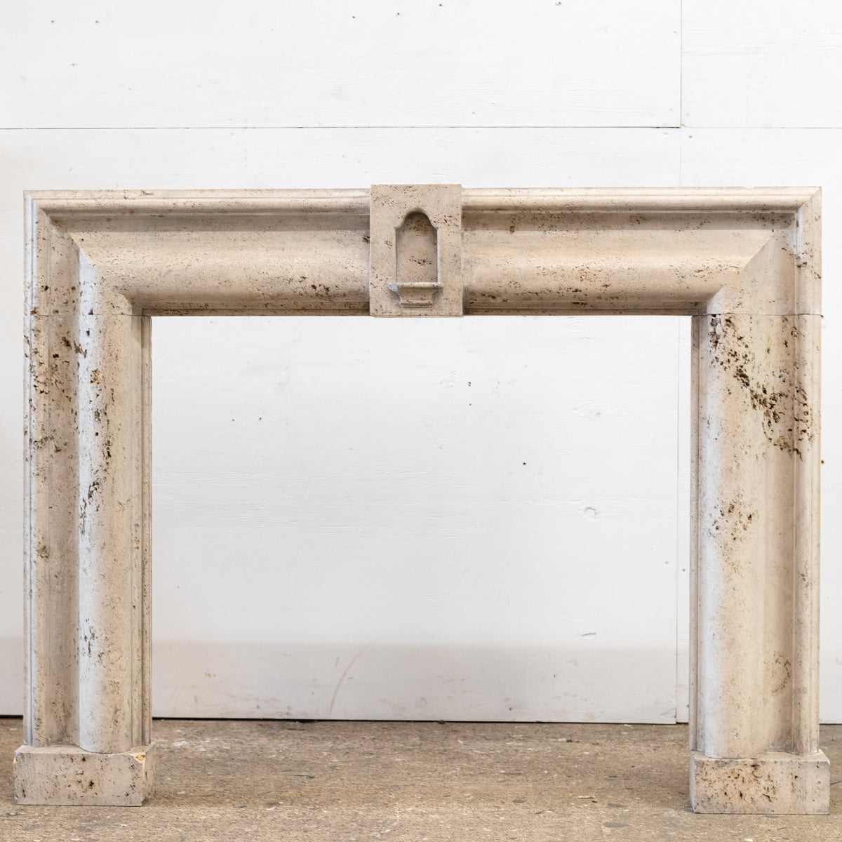 Antique Travertine Marble Bolection Fireplace Surround | The Architectural Forum