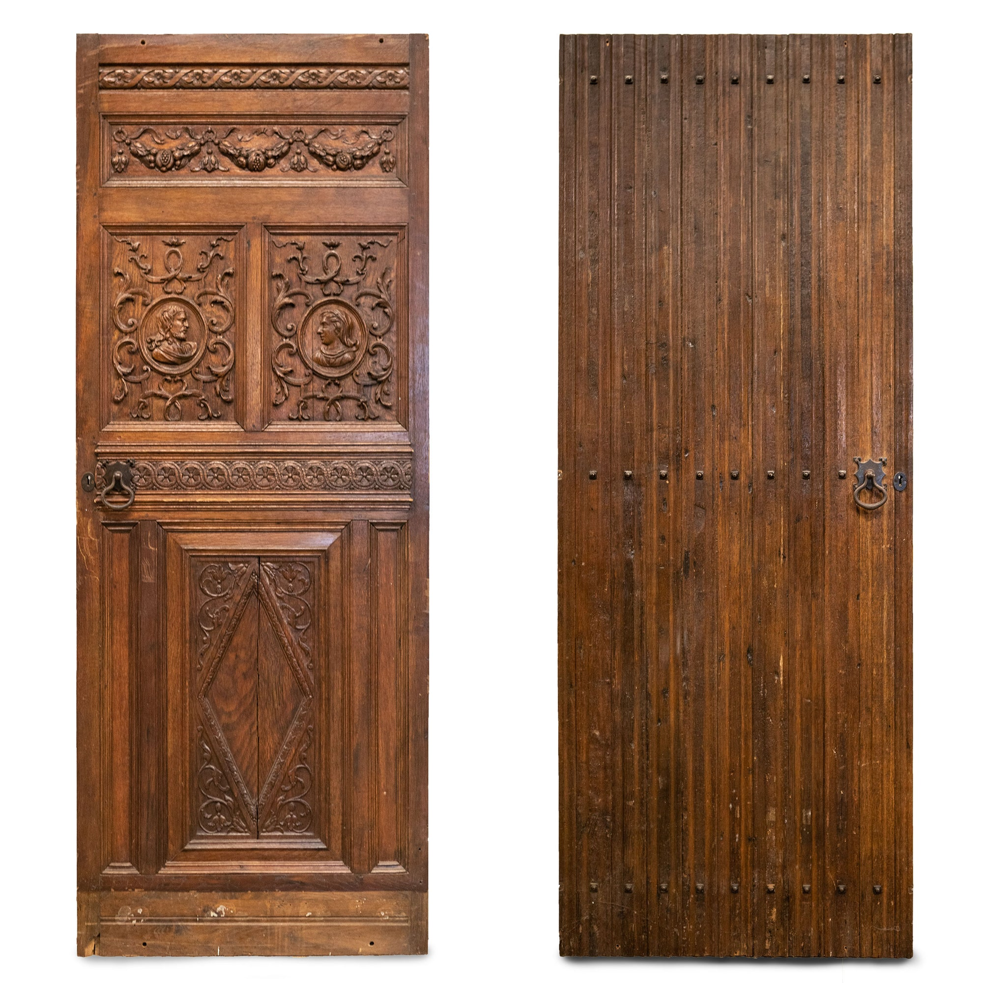 Antique Carved Oak Jacobean Style door
