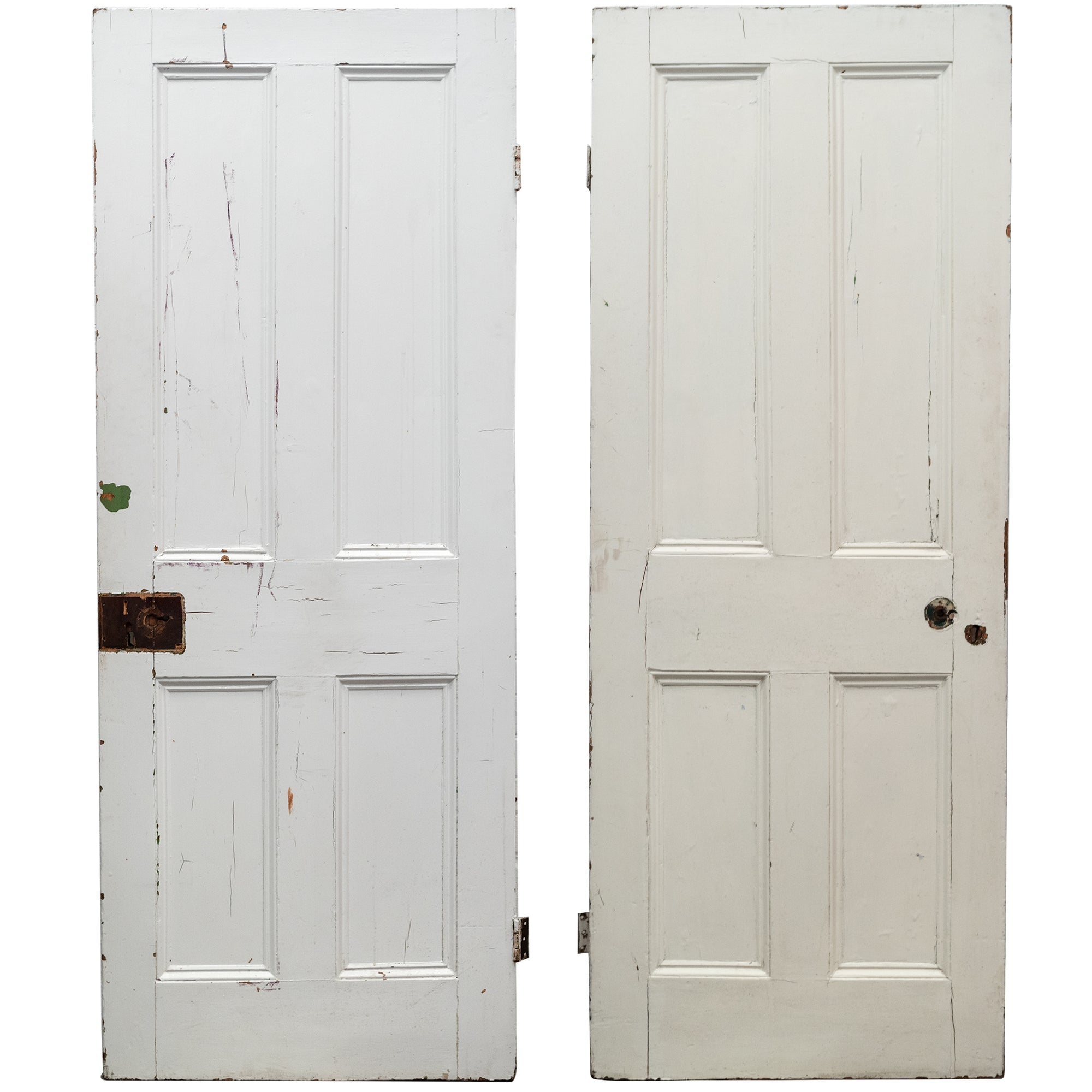 Antique Victorian 4 Panel Door - 184cm x 75.5cm