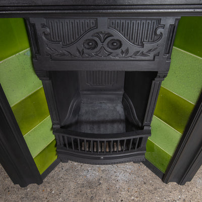 Antique Cast Iron Tiled Combination Fireplace - The Architectural Forum