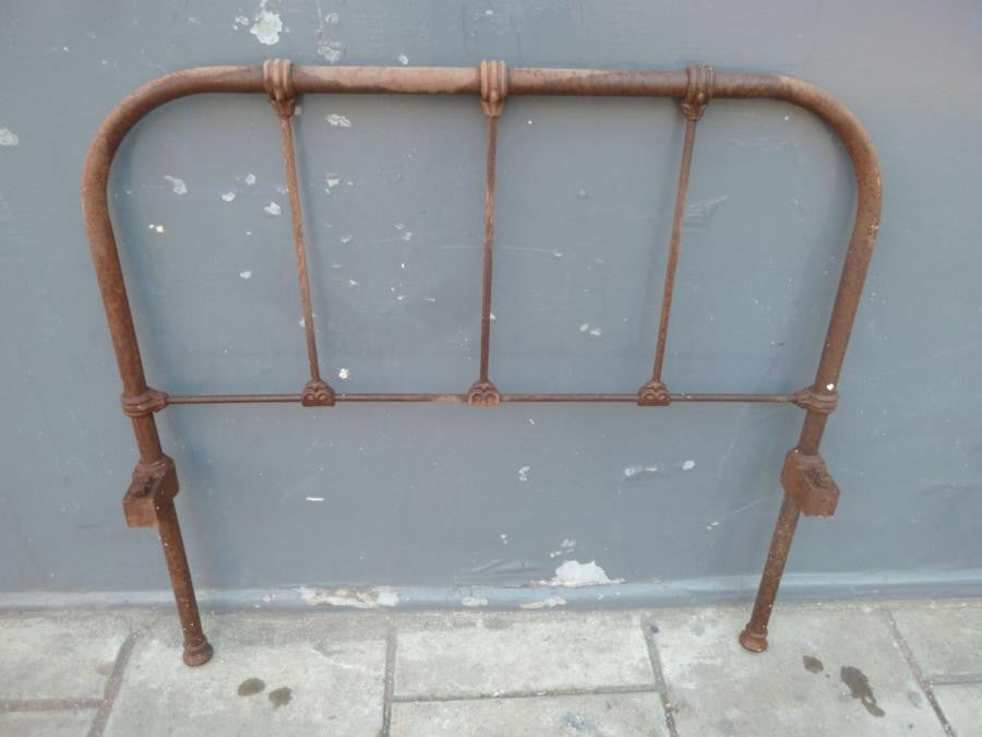 Victorian Cast Iron Single Headboard and Foot End - architectural-forum