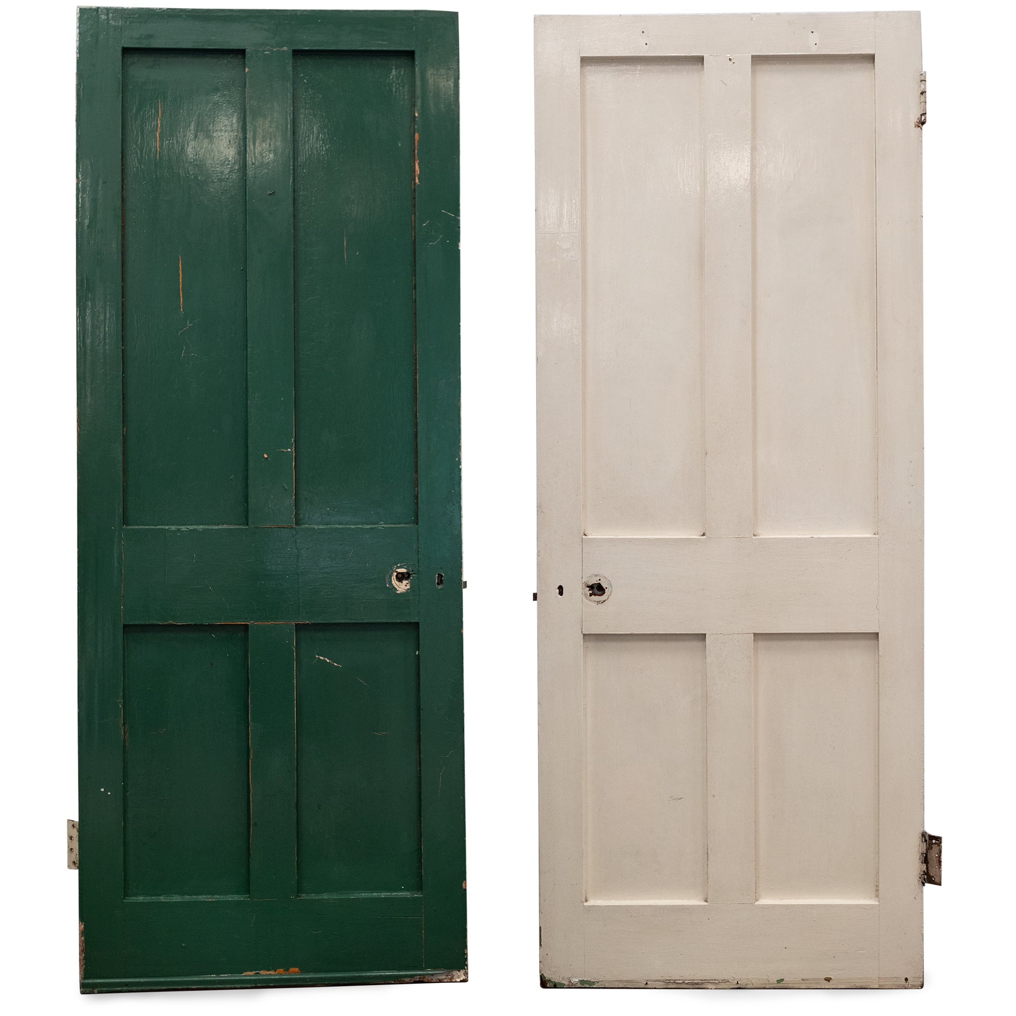 Antique Victorian 4 Panel Door - 197cm x 78cm