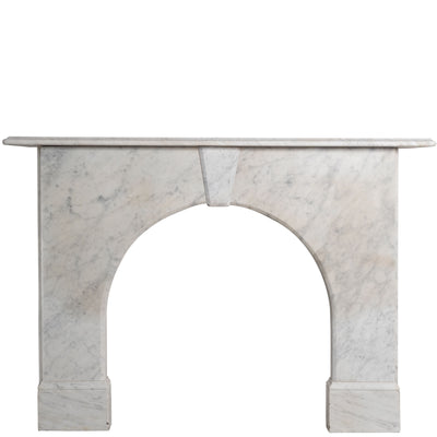 Antique Victorian Arched Marble Fireplace Surround - architectural-forum