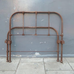 Victorian Cast Iron Single Headboard and Foot End