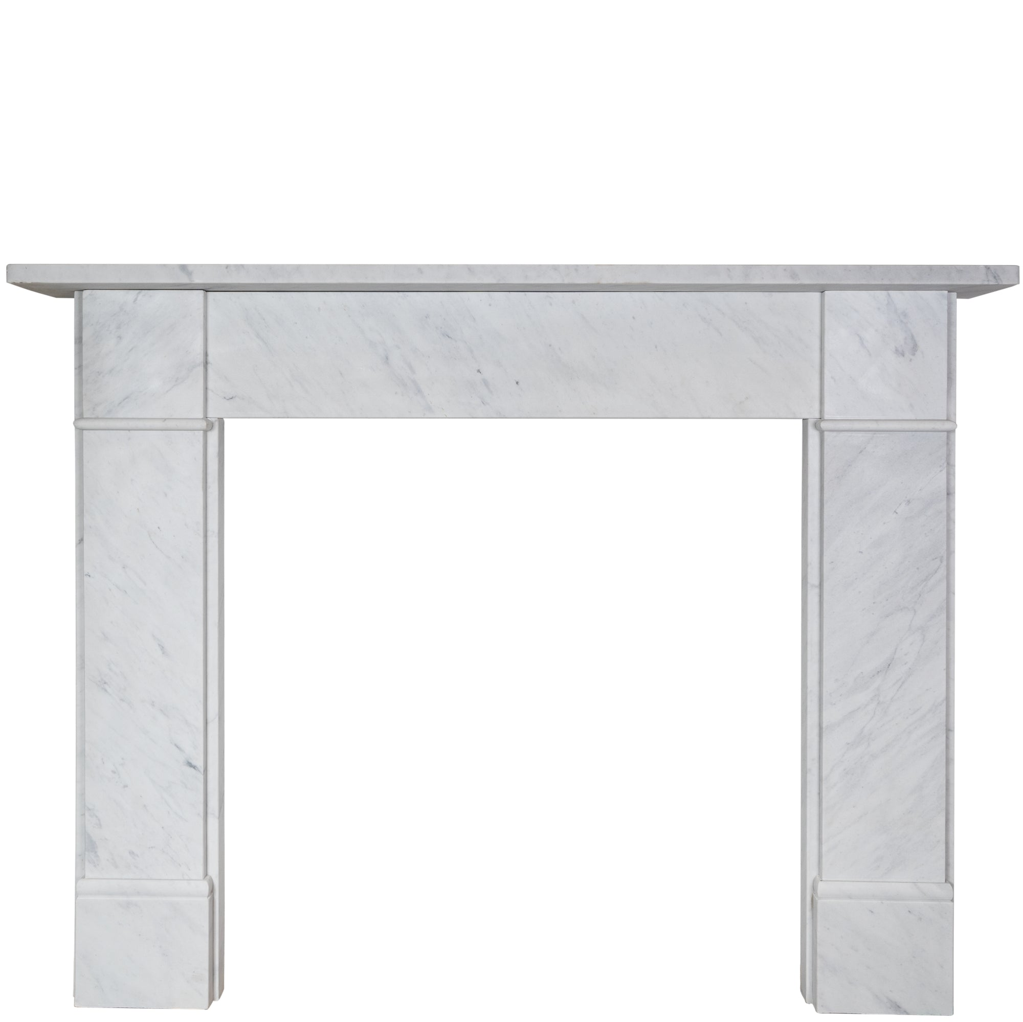 Victorian Style Carrara Marble Fireplace Surround - architectural-forum