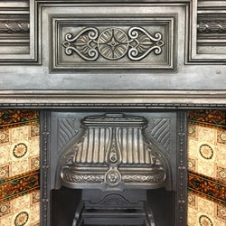 tiled cast iron fireplace