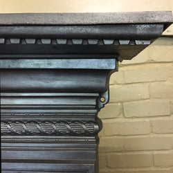 Cast iron detailed fireplace