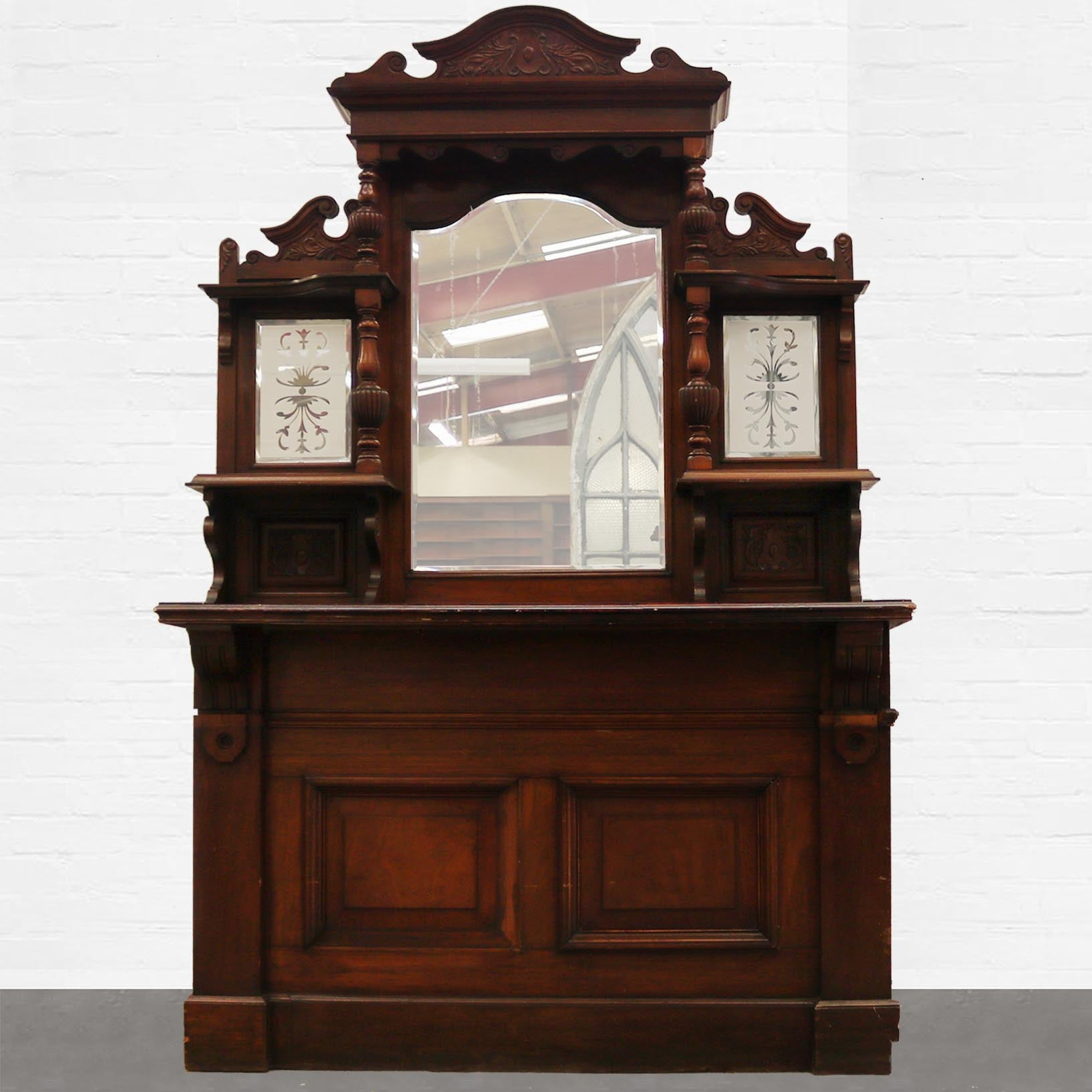 Victorian Bar and Overmantel