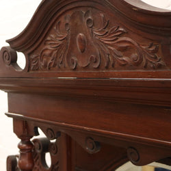 carved wooden overmantel