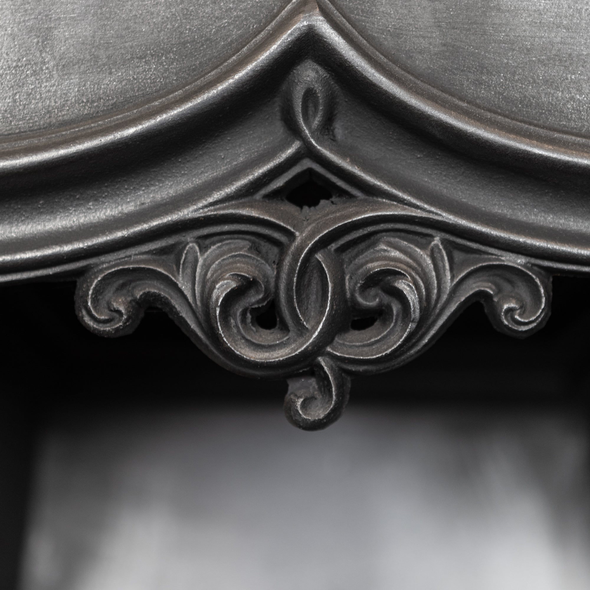 Reclaimed Victorian Gothic Revival Style Cast Iron Fireplace Insert | The Architectural Forum