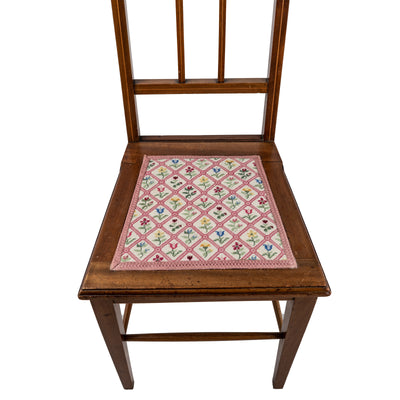 Antique Edwardian Inlaid Tapestry Chair - The Architectural Forum