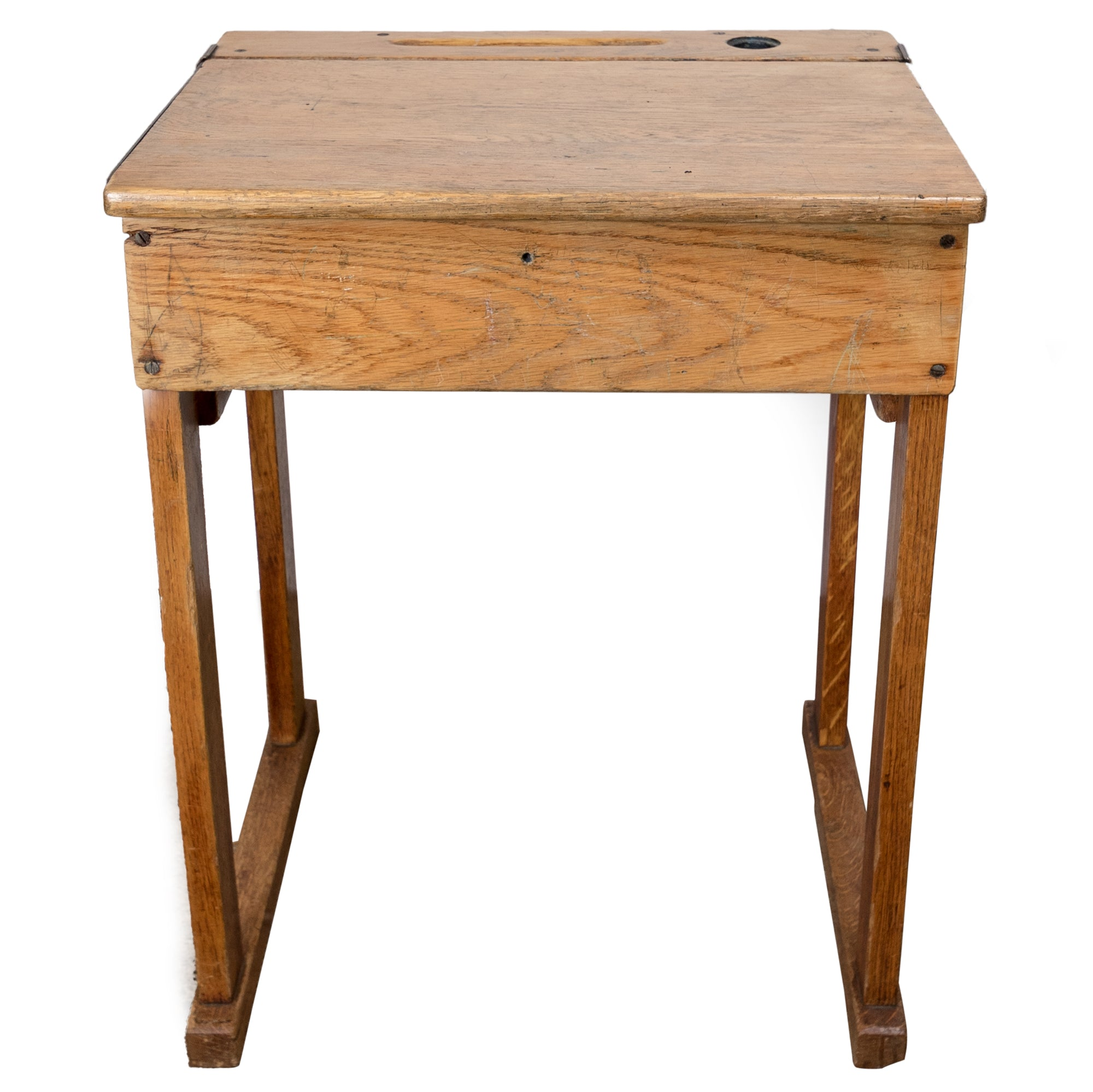 Reclaimed Oak School Desk - architectural-forum