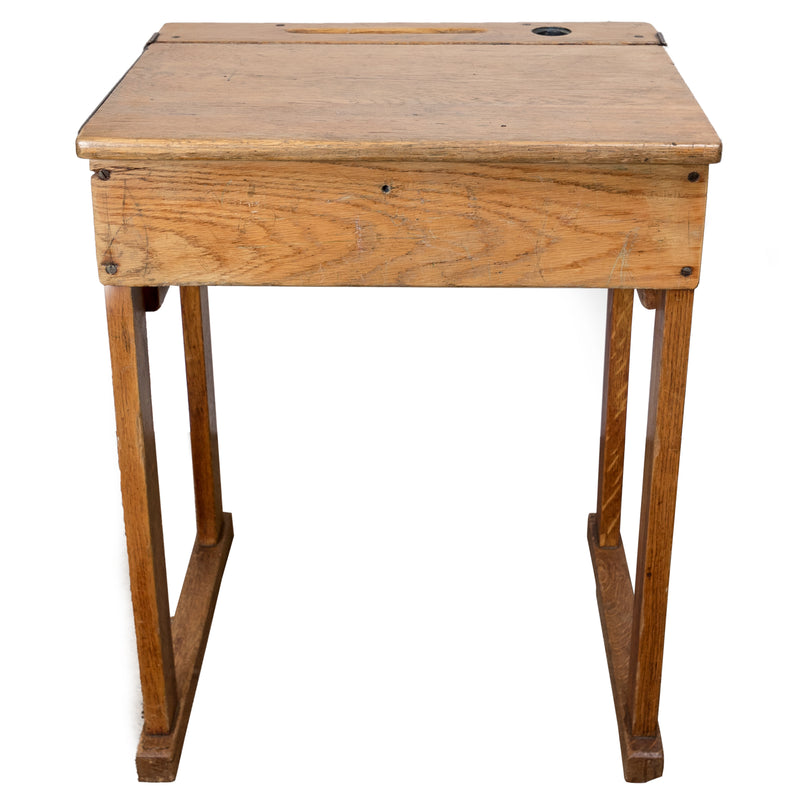 Reclaimed Oak School Desk