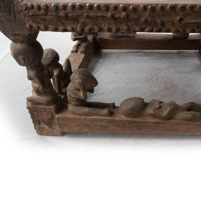Reclaimed African Tribal Carved Wooden Fertility Chair - architectural-forum