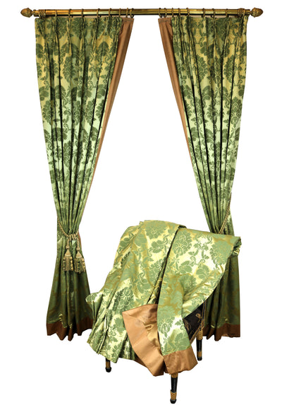 Green Silk Damask Curtains - The Architectural Forum