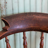 Antique Victorian Elm Admiral Captain's Chair