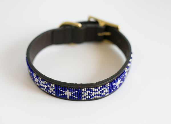 STARS & SNOWFLAKES DOG COLLAR
