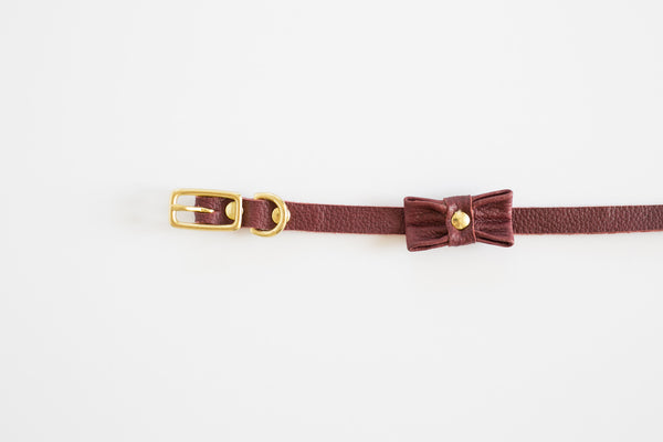 GREAT GATSBY PLUM CAT COLLAR