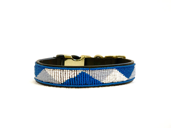 BLUE GEO STYLE-RELEASE DOG COLLAR™