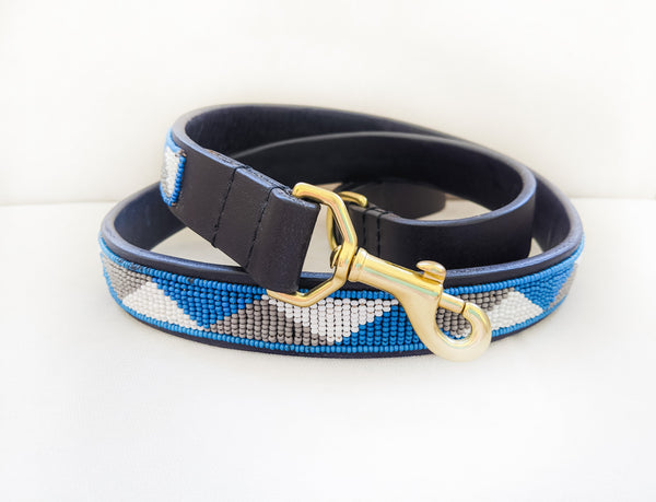 BLUE GEO DOG LEASH
