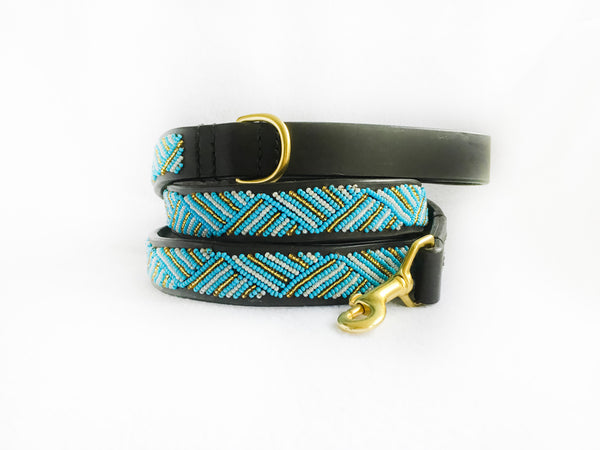 ZANZIBAR DOG COLLAR & LEASH SET